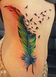 Birds Feather tattoo color meanings | Tattoo love ...