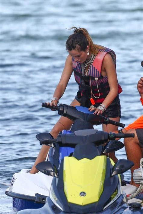 bella thorne  bikini hits  waters  jet ski  miami