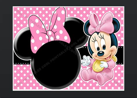 minnie mouse blank invitation