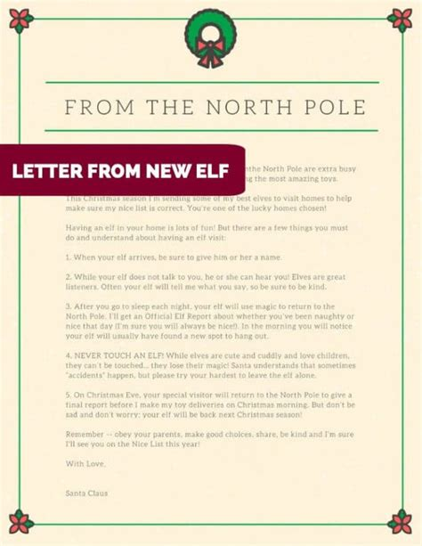 awesome downloadable elf   shelf letters ideas