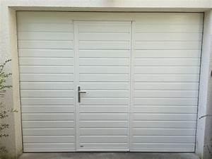 Porte De Garage Motorisée Avec Portillon : porte sectionnelle avec portillon 2800x2200 portech ~ Dode.kayakingforconservation.com Idées de Décoration