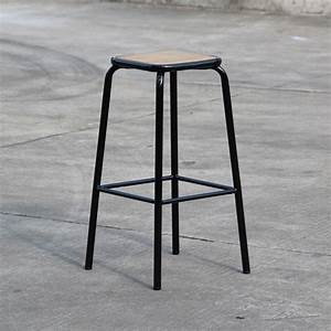 Tabouret De Bar Retro : tabouret de bar industriel en m tal et bois maitresse x2 ~ Teatrodelosmanantiales.com Idées de Décoration