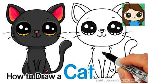 draw  black cat easy hildurko art blog shop