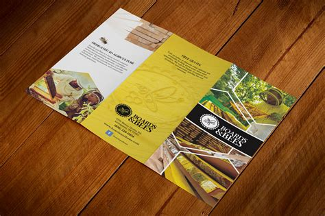 agricultural company trifold brochure brochure design