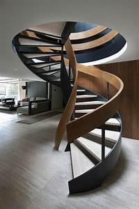 Escalier Bois Pas Cher : l 39 escalier tournant en 40 jolies photos ~ Premium-room.com Idées de Décoration