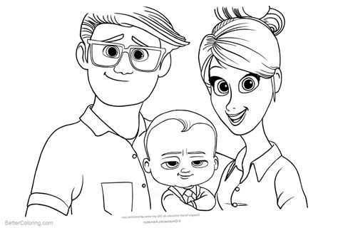 boss baby coloring pages  parents  printable