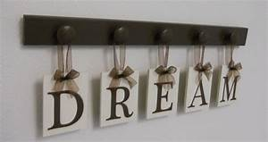 dream sign wall decor hanging wall letter sign by nelsonsgifts With letter sign decor