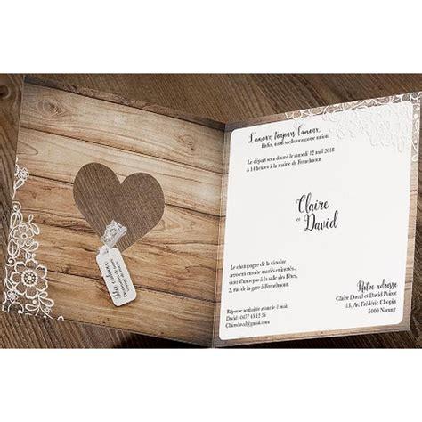 texte de faire part mariage romantique faire part mariage romantique chic bois fleurs dentelle