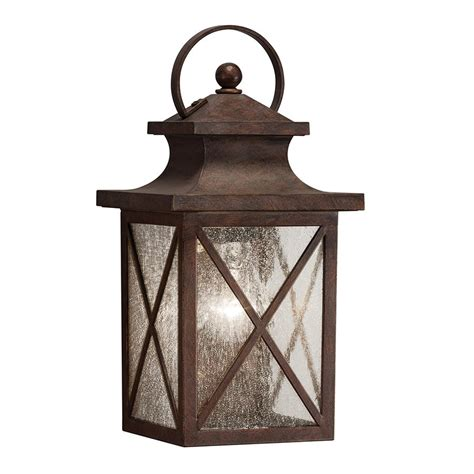 kichler lighting haven 1 light olde brick outdoor wall light lowe s canada