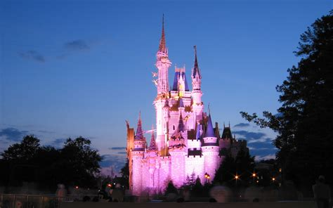 Cinderella Castle At Night Wallpaper Disney Castle Wallpapers Hd Pixelstalk Net
