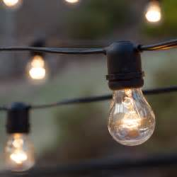 patio lights commercial clear patio string lights 50 a15 e26 bulbs black wire