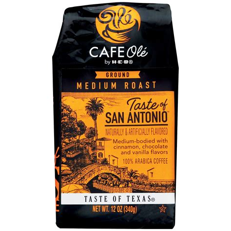 Cafe ole is proud to serve you fresh air roasted coffee, rite here in denver, colorado. Cafe Ole by H-E-B Taste of San Antonio Medium Roast Ground ...