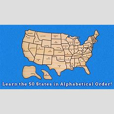 Learn The 50 United States In Alphabetical Order Learn Geography United States Puzzle Youtube