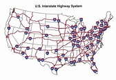 U.S. Interstate highway map | See the USA in a Different ...