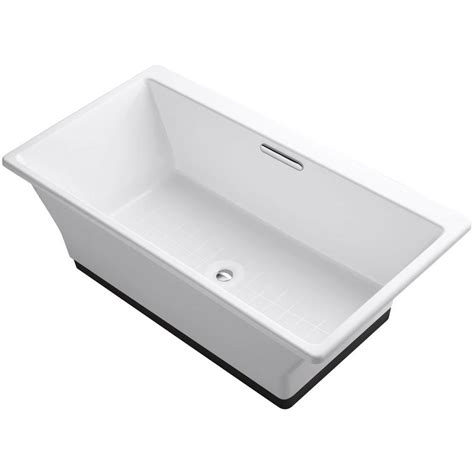 Kohler Cast Iron Sink Enamel Care by Kohler Reve 5 5 Ft Porcelain Enameled Cast Iron Flat