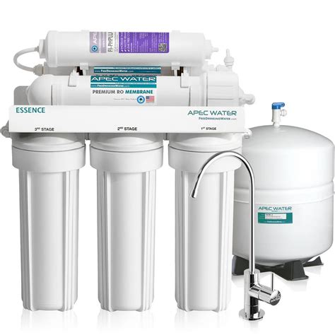 best under water filtration system reviews apec water systems essence premium quality 75 gpd ph