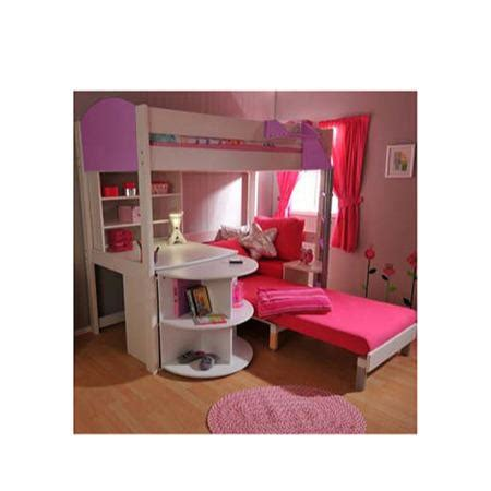 stompa combo kids white highsleeper bed  lilac  pink