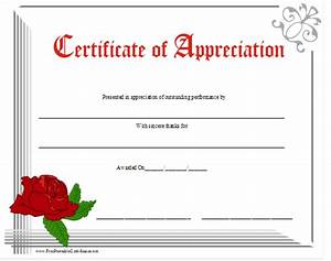 Free Certificate Of Appreciation | New Calendar Template Site