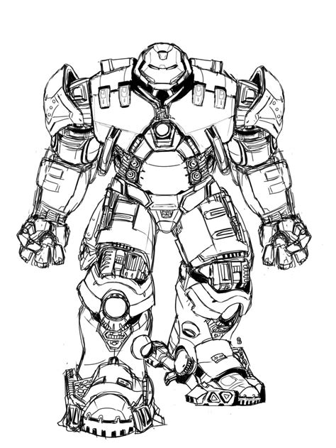 Iron Man Hulkbuster Coloring Pages Free Coloring For
