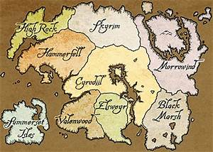 Map of Tamriel   Elder Scrolls   Fandom powered by Wikia