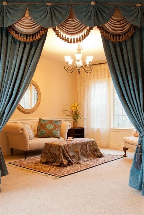 valance curtains ikea blue salon style living room