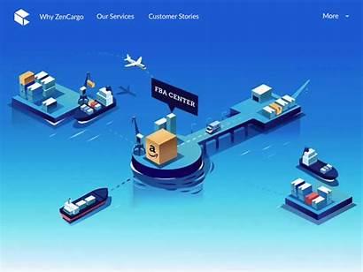Sellers Dribbble Cargo Javascript Enabled Isometric Ship