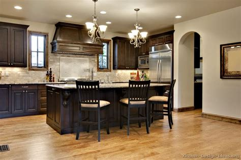 pictures  kitchens traditional dark wood walnut color kitchen