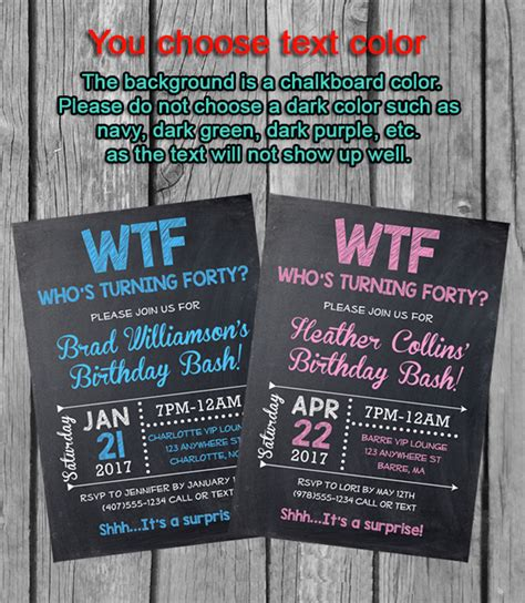 40th Birthday Party InvitationsWho's Turning Forty