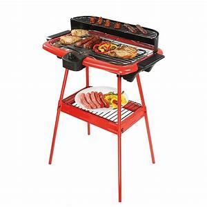 Plancha électrique Sur Pied : barbecue lectrique sur pieds rouge 2000 w grills ~ Dailycaller-alerts.com Idées de Décoration