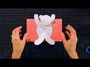how to make a 3d sakura pop up greeting With teddy bear pop up card template free