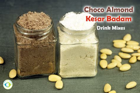 Instant Choco Almond Kesar Badam Drink Mix For Kids