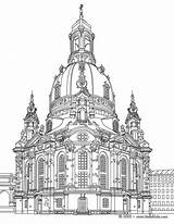 Cathedral Coloring Pages Cologne Picolour sketch template