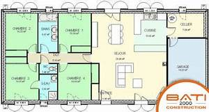 plan maison traditionnelle plain pied 116 m2 4 chambres With plan appartement 150 m2 7 plan maison moderne 120m2