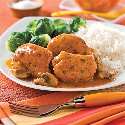 les sauces en cuisine hauts de cuisse de poulet sauce chasseur recettes