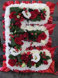 designer funeral letter wreaths by townend florist sheffield With letter wreaths for funerals