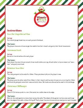 printable christmas party games pack download minute to win it printable pack by sharla kostelyk