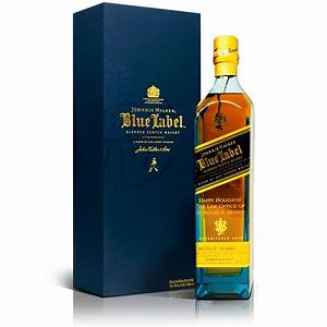 johnnie walker blue label engraved scotch whisky 750ml With blue label engraved