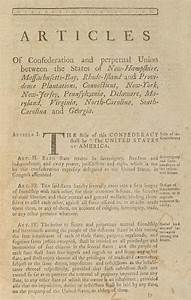 The Articles Of Confederation. First Photograph by Everett
