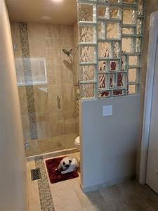 how much does a prefabricated glass block walk in shower