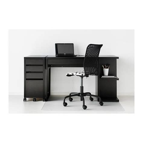 micke desk with integrated storage assembly rismon abat jour bleu vert blanc cable drawer unit
