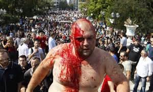greece strike debt ridden country starts  hour walkout