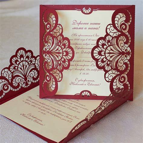 50 KIts Fold Flower RED Invite Cards Birthday Invitations