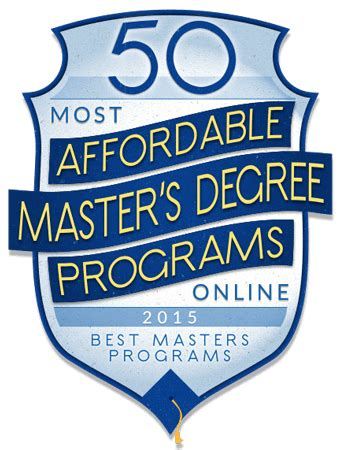 50 most affordable online master s degree programs for