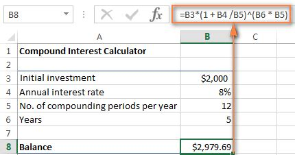 compound interest excel template excel formula to calculate interest rate on loan company car tax calculator 2012 13