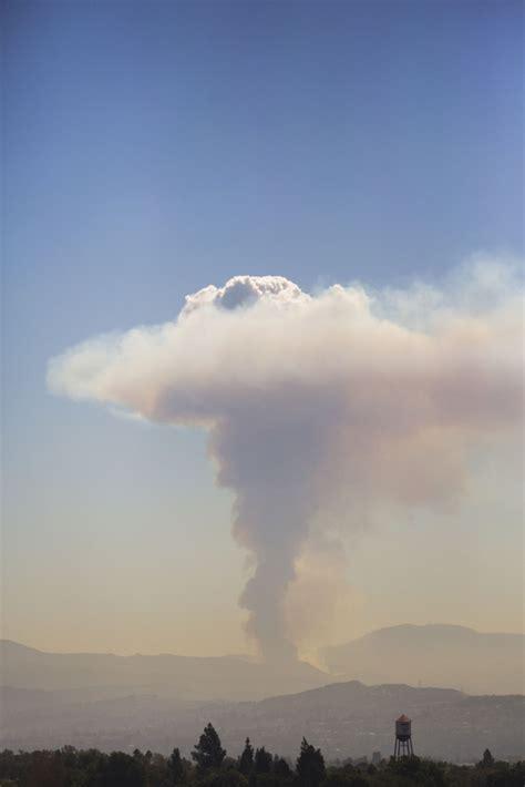 silverado canyon fire wildfire erupts  cleveland