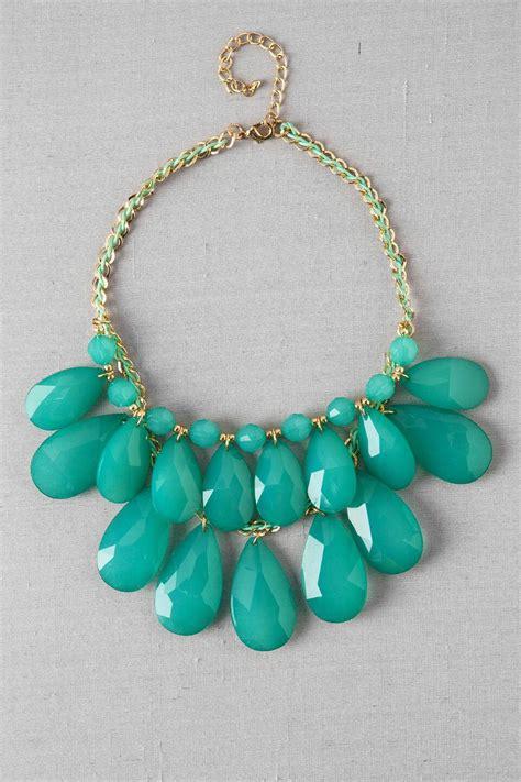 king island teardrop necklace  mint francescas