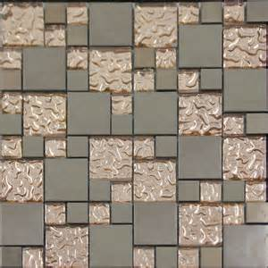 Peel And Stick Kitchen Wall Tiles by Copper Glass And Porcelain Square Mosaic Tile Designs
