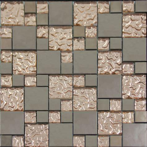 Copper Glass And Porcelain Square Mosaic Tile Designs