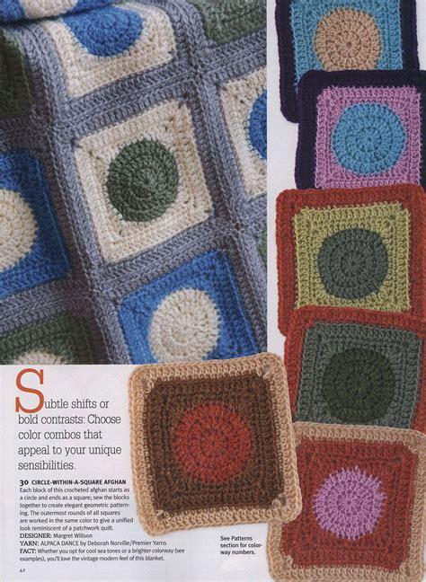 crochet afghan pattern circle   square crochet kingdom