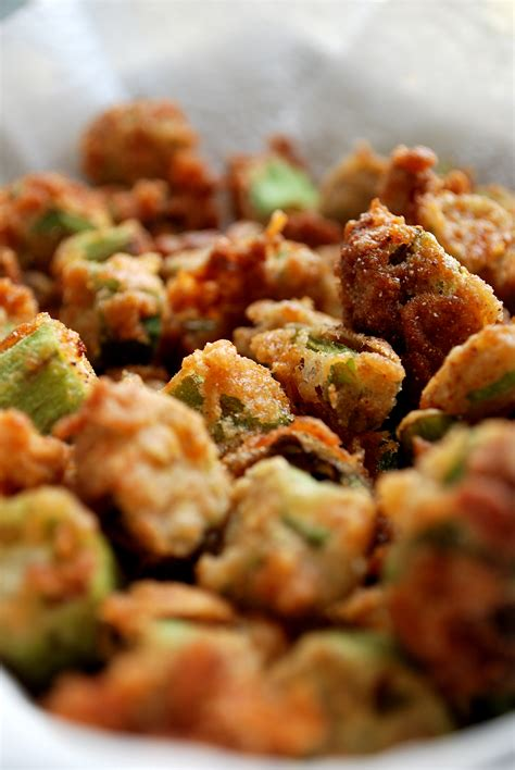 fried okra deep fried okra heedthefeed